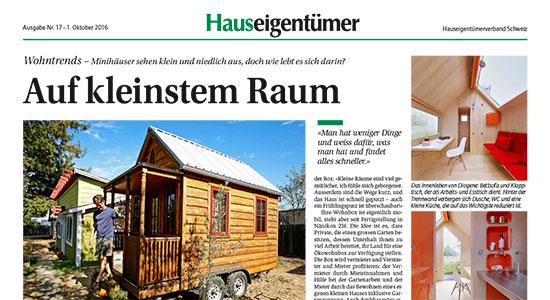 Bericht in der Hauseigentümerzeitung Oktober 2015