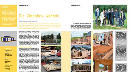 Bericht im Magazin «Baubiologie» 04/2012