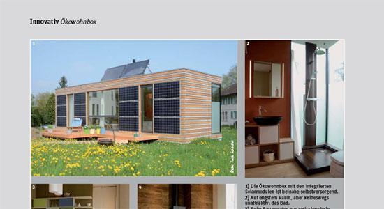 Bericht im «Das effiziente Haus» 01/2013