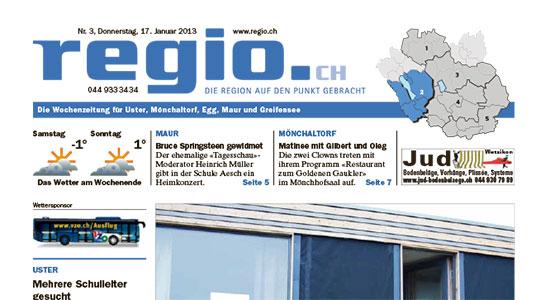 Bericht im Regio 01/2013